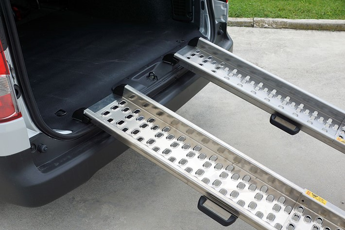 Removable ramps for vehicles
